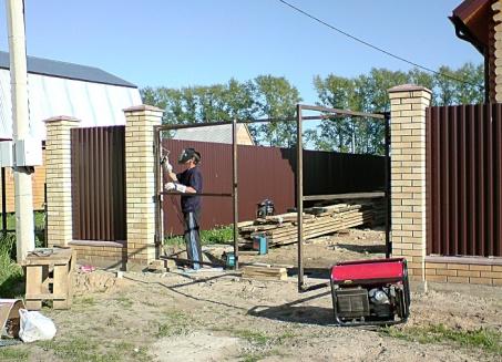 ремонт ворот киев, подрезка ворот в Киеве