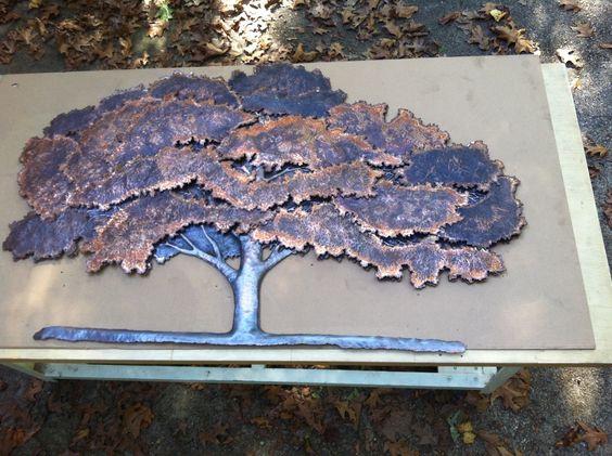 дерево из меди на заказ, медное дерево киев, декоративные изделия на заказ Киев
