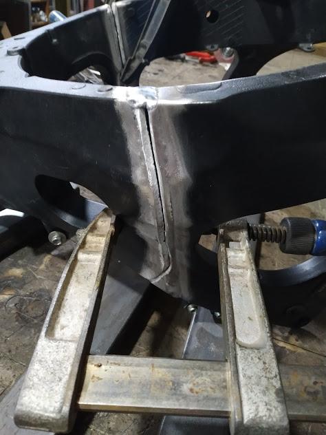 сварка алюминивой рамы мотоцикла, ремонт мото рамы